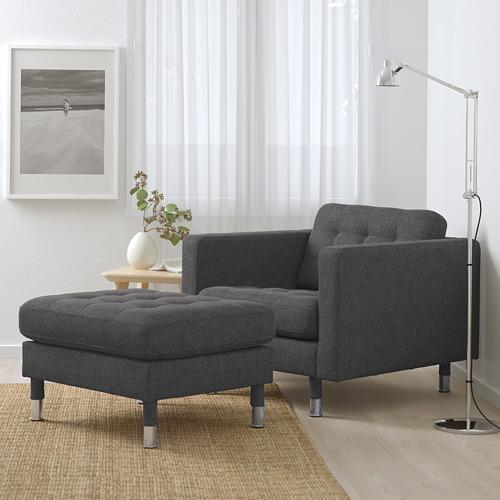 LANDSKRONA - armchair, Gunnared dark grey/metal   IKEA Hong Kong and Macau - PE680121_S4
