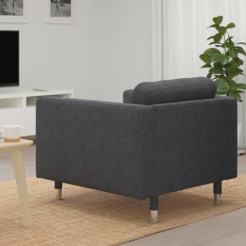 LANDSKRONA - armchair, Gunnared dark grey/metal   IKEA Hong Kong and Macau - PE680154_S4