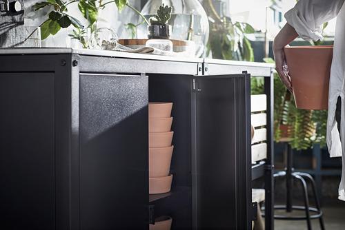 GRILLSKÄR - 門/邊架/背板, 黑色/不銹鋼 戶外 | IKEA 香港及澳門 - PE793700_S4