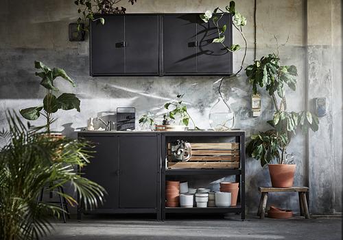 GRILLSKÄR - 門/邊架/背板, 黑色/不銹鋼 戶外 | IKEA 香港及澳門 - PE793701_S4