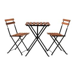 TÄRNÖ - table+2 chairs, outdoor, black/grey-brown stained | IKEA Hong Kong and Macau - PE281792_S3