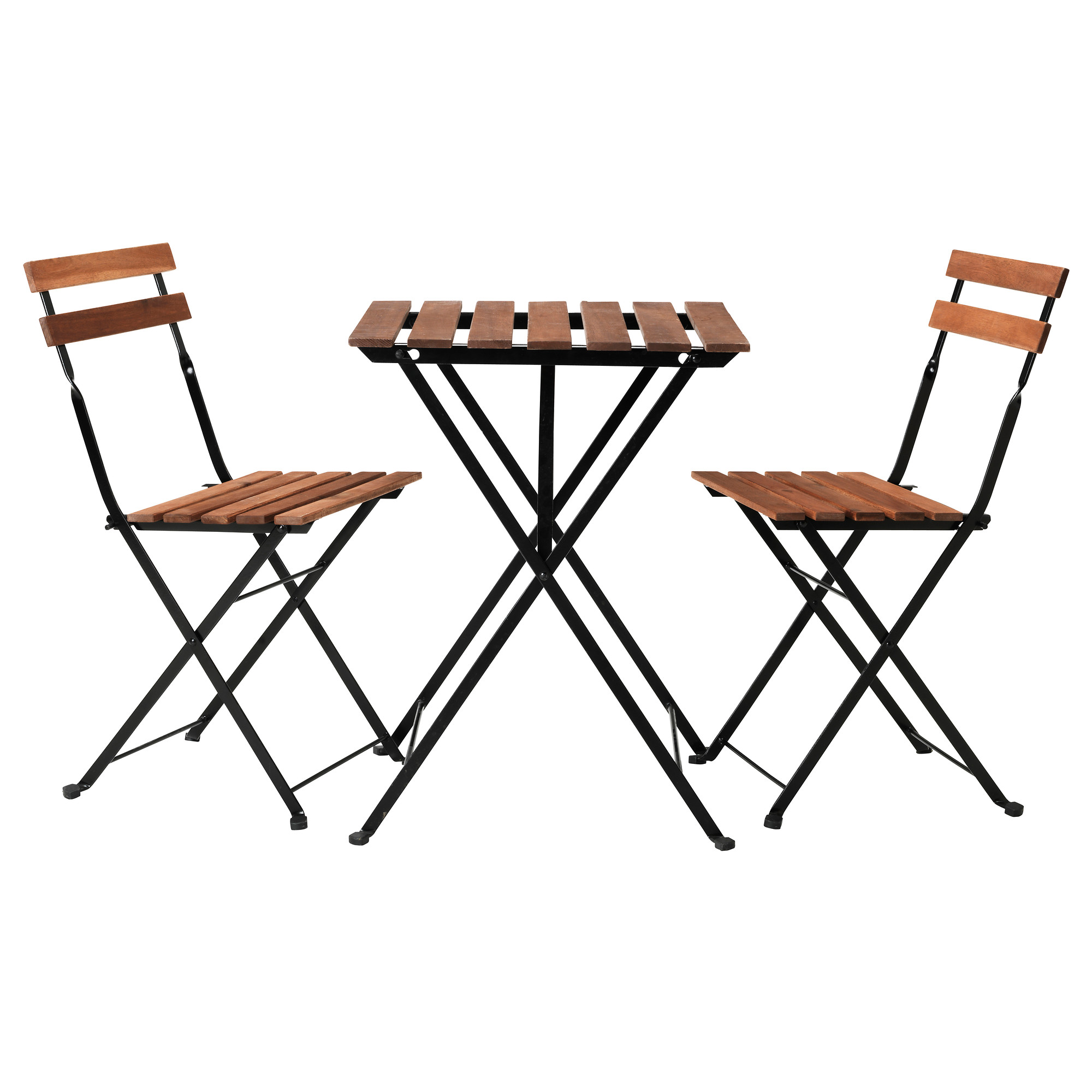 TÄRNÖ, table+7 chairs, outdoor, black/grey-brown stained