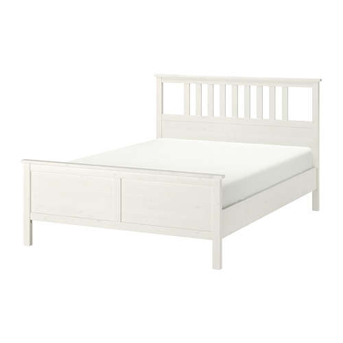 HEMNES bed frame, LURÖY, double