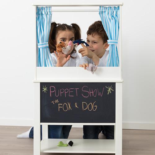 SPISIG 玩具廚房連窗簾