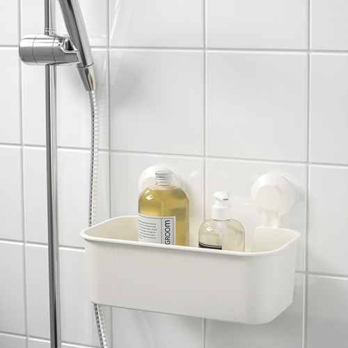 TISKEN - 貯物籃連吸盤, 白色 | IKEA 香港及澳門 - PE704365_S4