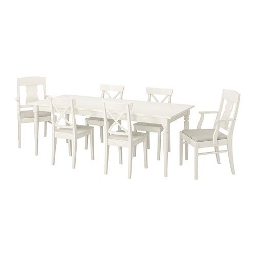 INGATORP/INGOLF - 一檯六椅, 白色/Nordvalla 米黃色 | IKEA 香港及澳門 - PE741189_S4
