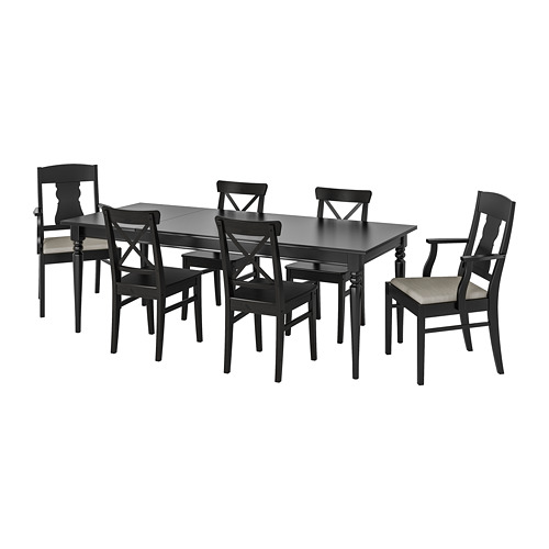 INGATORP/INGOLF 一檯六椅