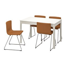 BERNHARD/EKEDALEN - table and 4 chairs, white/Mjuk golden-brown | IKEA Hong Kong and Macau - PE741205_S3