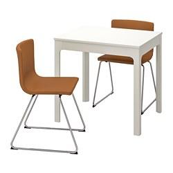 BERNHARD/EKEDALEN - 一檯兩椅, 白色/Mjuk 金啡色 | IKEA 香港及澳門 - PE741200_S3