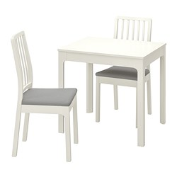 EKEDALEN/EKEDALEN - 一檯兩椅, 白色/Orrsta 淺灰色 | IKEA 香港及澳門 - PE741211_S3