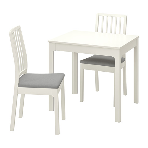 EKEDALEN/EKEDALEN - table and 2 chairs, white/Orrsta light grey | IKEA Hong Kong and Macau - PE741211_S4