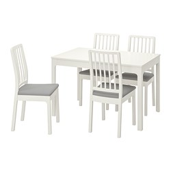 EKEDALEN/EKEDALEN - table and 4 chairs, white/Orrsta light grey | IKEA Hong Kong and Macau - PE741213_S3