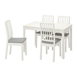 EKEDALEN/EKEDALEN - 一檯四椅, 白色/Orrsta 淺灰色 | IKEA 香港及澳門 - PE741213_S3