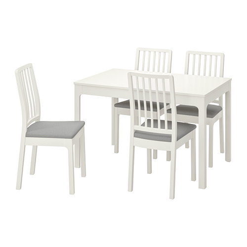 EKEDALEN/EKEDALEN - table and 4 chairs, white/Orrsta light grey | IKEA Hong Kong and Macau - PE741213_S4