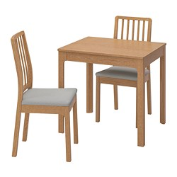 EKEDALEN/EKEDALEN - table and 2 chairs, oak/Orrsta light grey | IKEA Hong Kong and Macau - PE741216_S3