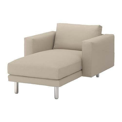 NORSBORG - chaise longue, Edum beige/metal | IKEA Hong Kong and Macau - PE651351_S4