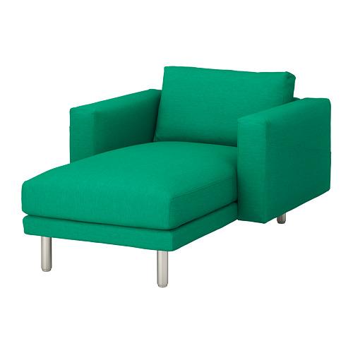 NORSBORG - 躺椅, Edum 鮮綠色/金屬 | IKEA 香港及澳門 - PE651322_S4