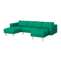 NORSBORG - 4-seat sofa, with chaise longues/Edum bright green/metal | IKEA Hong Kong and Macau - PE651350_S3