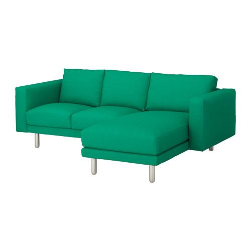 NORSBORG - 3-seat sofa, with chaise longue/Edum bright green/metal | IKEA Hong Kong and Macau - PE651330_S4