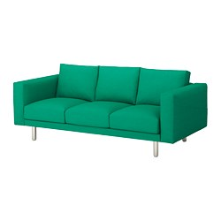 NORSBORG - 3-seat sofa, Edum bright green/metal | IKEA Hong Kong and Macau - PE651332_S3