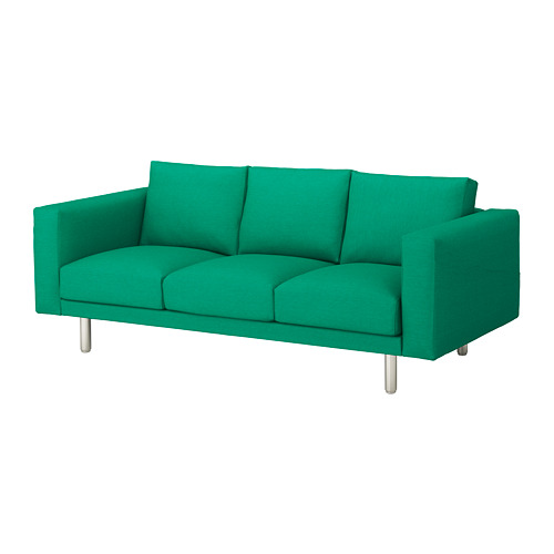 NORSBORG - 3-seat sofa, Edum bright green/metal   IKEA Hong Kong and Macau - PE651332_S4