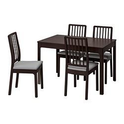 EKEDALEN/EKEDALEN - 一檯四椅, 深褐色/Orrsta 淺灰色 | IKEA 香港及澳門 - PE741220_S3