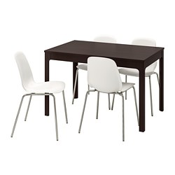 LEIFARNE/EKEDALEN - table and 4 chairs, dark brown/white | IKEA Hong Kong and Macau - PE741226_S3