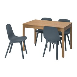 ODGER/EKEDALEN - table and 4 chairs, oak/blue | IKEA Hong Kong and Macau - PE741237_S3