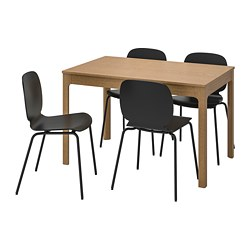 SVENBERTIL/EKEDALEN - 一檯四椅, 橡木/黑色 | IKEA 香港及澳門 - PE741239_S3