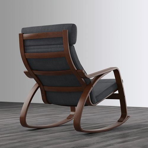 POÄNG - rocking-chair, brown/Hillared anthracite | IKEA Hong Kong and Macau - PE629339_S4