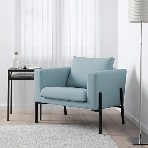 KOARP - armchair, Orrsta light blue/black | IKEA Hong Kong and Macau - PE643234_S4