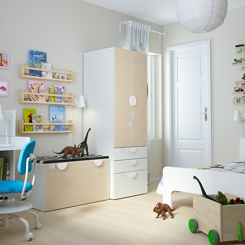 PLATSA/SMÅSTAD - storage combination, white birch/with bench | IKEA Hong Kong and Macau - PE793838_S4