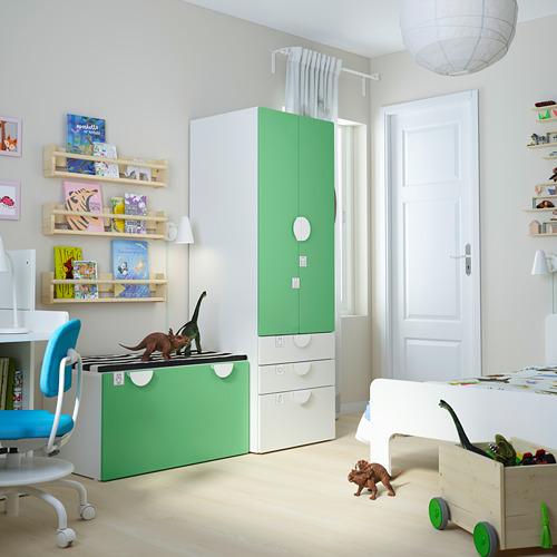 PLATSA/SMÅSTAD - storage combination, white green/with bench   IKEA Hong Kong and Macau - PE793842_S4