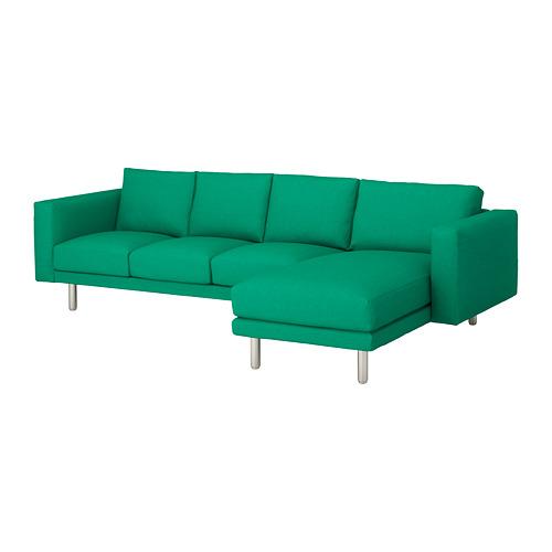 NORSBORG - 4-seat sofa, with chaise longue/Edum bright green/metal | IKEA Hong Kong and Macau - PE651336_S4