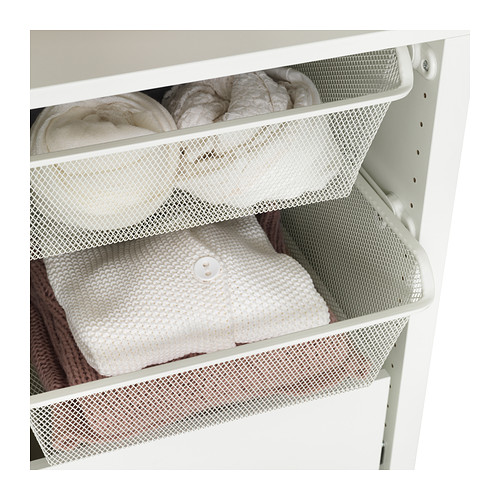KOMPLEMENT - mesh basket with pull-out rail, white | IKEA Hong Kong and Macau - PE377297_S4