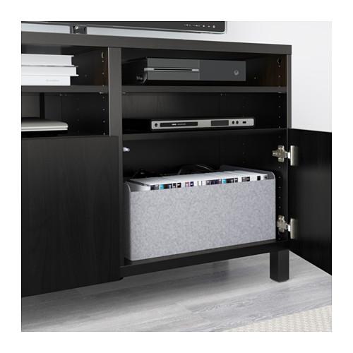 BESTÅ - TV bench with doors, Lappviken black-brown | IKEA Hong Kong and Macau - PE591174_S4