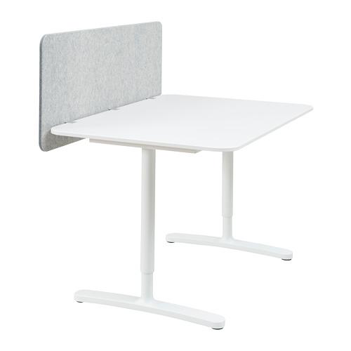 BEKANT - desk with screen, 120x80cm, white/grey | IKEA Hong Kong and Macau - PE793882_S4