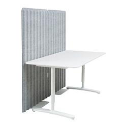 BEKANT - 書檯連屏風, 160x80cm, 白色/灰色 | IKEA 香港及澳門 - PE793894_S3