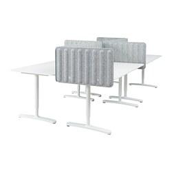BEKANT - desk with screen, white/grey | IKEA Hong Kong and Macau - PE793888_S3