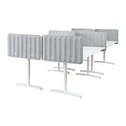 BEKANT - 書檯連屏風, 白色/灰色 | IKEA 香港及澳門 - PE793892_S3