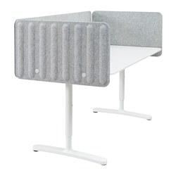 BEKANT - 書檯連屏風, 160x80cm, 白色/灰色 | IKEA 香港及澳門 - PE793893_S3