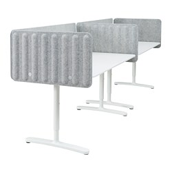 BEKANT - 書檯連屏風, 320x80cm, 白色/灰色 | IKEA 香港及澳門 - PE793887_S3