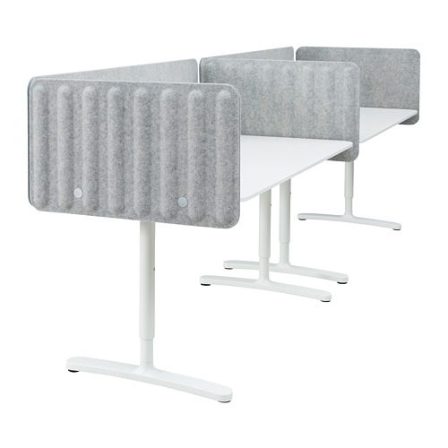 BEKANT - desk with screen, 320x80cm, white/grey | IKEA Hong Kong and Macau - PE793887_S4