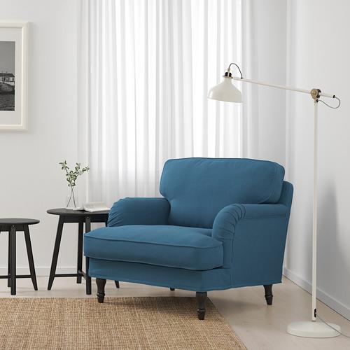 STOCKSUND - armchair, Ljungen blue/black/wood | IKEA Hong Kong and Macau - PE689678_S4