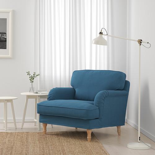STOCKSUND - armchair, Ljungen blue/black/wood | IKEA Hong Kong and Macau - PE689679_S4