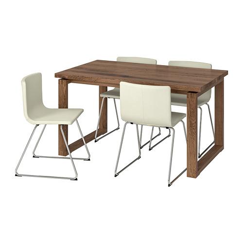 BERNHARD/MÖRBYLÅNGA - table and 4 chairs, brown/Mjuk white | IKEA Hong Kong and Macau - PE741353_S4
