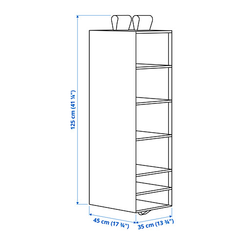 SKUBB - storage with 6 compartments, 35x45x125 cm, white | IKEA Hong Kong and Macau - PE793922_S4