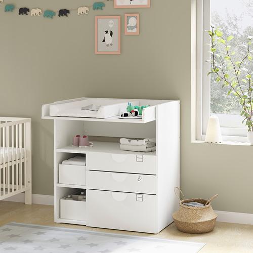 SMÅSTAD - 更換尿布檯, white green/with 3 drawers | IKEA 香港及澳門 - PE793924_S4