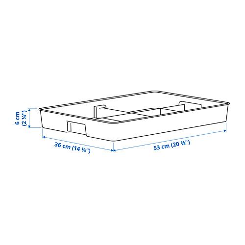 KUGGIS - 內置8間隔貯物架, 36x53x6 cm, 白色 | IKEA 香港及澳門 - PE793927_S4