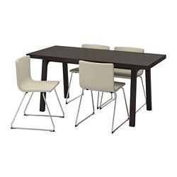 BERNHARD/VÄSTANBY/VÄSTANÅ - table and 4 chairs, dark brown/Kavat white | IKEA Hong Kong and Macau - PE741389_S3